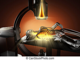 x-ray examination of human bones