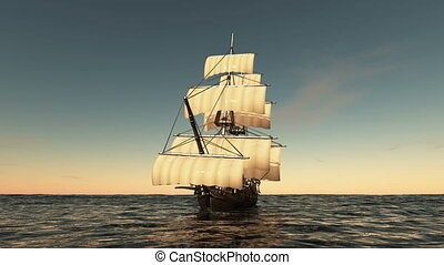 Sailing boat - Image of a sailing boat