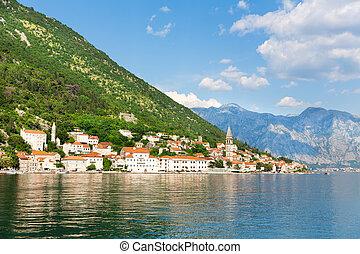 Perast town, Montenegro - View of Perast town, Montenegro