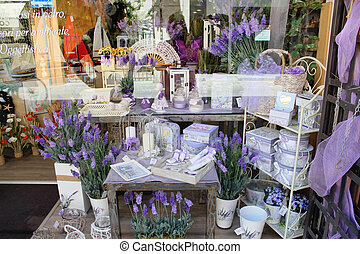 Perfumery and spirits from a lavender - MILAN, ITALY - JUNE...