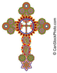 Floral Celtic cross - Sacred gentle cross of my God and...