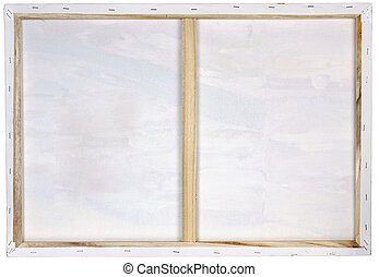 Wooden frame with white canvas