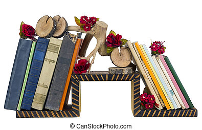Rural nasty taste - a self-made wooden book shelf with...