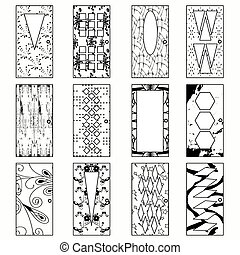 doors, monochrome vector illustration of a collection of symbols