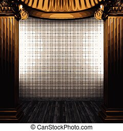 vector bronze columns and wallpaper