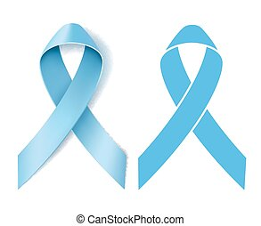 Prostate cancer ribbon awareness. Disease symbol. Realistic...