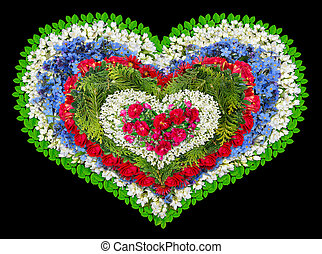 Mourning floral heart - Mourning tragical wreath as human...