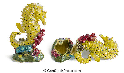 Fish sea horse - metal box for jewelry - MOSCOW, RUSSIA -...