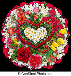 Mourning circle bouquet - Mourning tragical circle funeral...