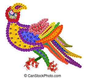 Element of the persian rug- a Parrot - Basic element of the...