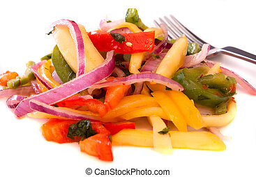 Mango Salad - Tangy mango salad made with slices of mangoes,...
