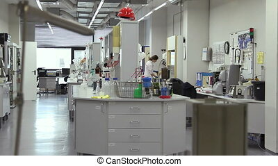 Woman working in the laboratory - Moscow, Russian Federation...