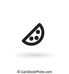 piece of cheese the black line icon