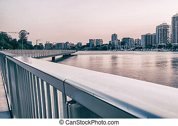 Newfarm Riverwalk in Brisbane - The Newfarm Riverwalk in...