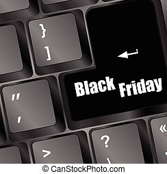 Illustration of background with Keyboard for Black Friday