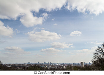 London Skyline - London City Skyline under a big sky from...