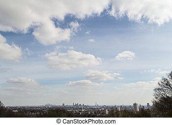 London Skyline - London City Skyline under a big sky from...