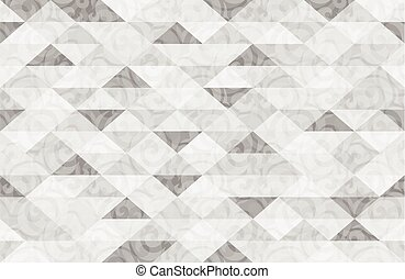 Black White Marble Triangle Pattern Background