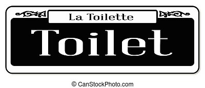 New Orleans Toilet Sign