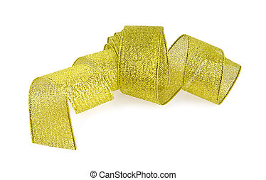 yellow ribbon on white background
