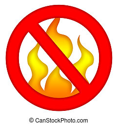 Fire Prevention Sign - Fire prevention sign isolated over...