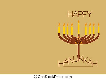 happy hanukkah background - This is an illustration of the...
