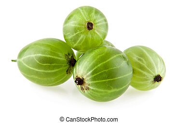 gooseberries on a white background