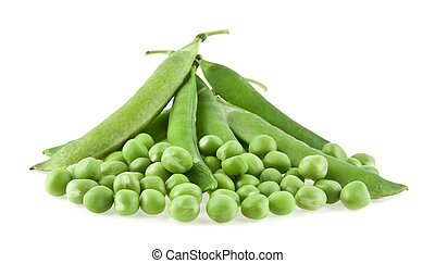 green pea on a white background