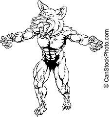 Scary fox sports mascot