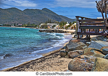 Coast in Saint Maarten Island, Dutch Antilles