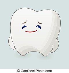 Sad tooth illustration