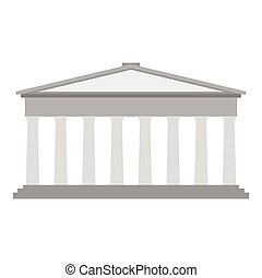 Roman pantheon flat - Roman or Greek pantheon with...