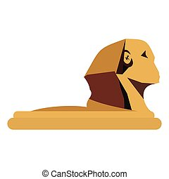 The Great Sphinx of Giza in flat style