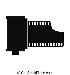 Camera film roll icon - Camera film roll simple icon...