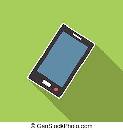 Smartphone flat icon for web and mobile devices