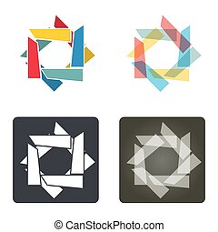 Template with abstract Star collection