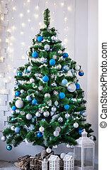 Beautiful Christmas living room with Christmas tree