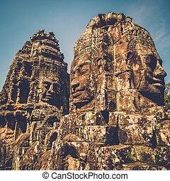 Prasat Bayon temple, Angkor, Siem Reap, Cambodia