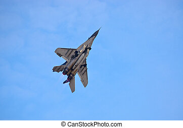 Mig-29 Fulcrum on the sky