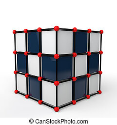3d futuristic cube shape