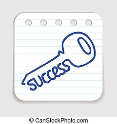 Doodle Key to Success icon.