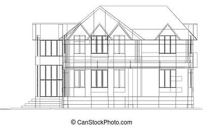 sketch of cottage