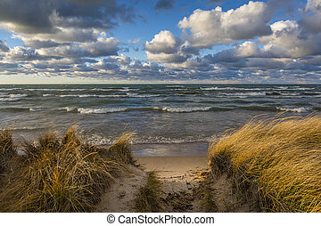 Storm Clouds Over Lake Huron - Ontario, Canada - Storm...