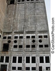 Industrial Building - Empty Industrial Building Circle and...