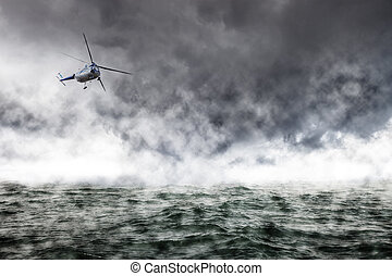 Helicopter Rescue - A helicopter rescue mission in difficult...