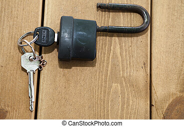 The lock on a table