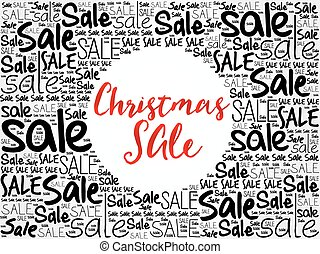Christmas SALE word cloud background, business concept