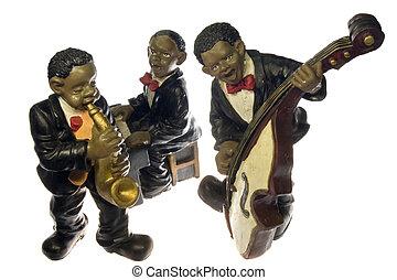 Jazz Band ceramic isolated on white background