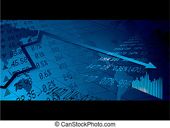 business stock market - Financial stock market background...