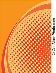 orange halftone background